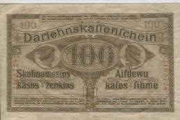 Del-01 033  100  Mark 1918 - Lithuania