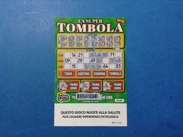 ITALIA BIGLIETTO LOTTERIA GRATTA E VINCI USATO € 5 LA SUPER TOMBOLA NEW LOTTO 3026 SERIE EE ITALY TICKET LOTTERY - Billetes De Lotería