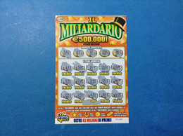 ITALIA BIGLIETTO LOTTERIA GRATTA E VINCI USATO € 5 IL MILIARDARIO LOTTO 1141 ITALY TICKET LOTTERY - Billetes De Lotería
