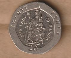 GIBRALTAR  20 Pence - 2000 Copper-nickel • 5 G • ⌀ 21.4 Mm KM# 777 - Gibraltar