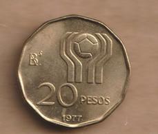 ARGENTINA 20 Pesos (Soccer) 1977  Aluminium-bronze • 4.9 G • ⌀ 22 Mm KM# 75, CJ# 317 To 318, Schön# 75 - Argentina