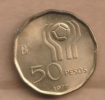 ARGENTINA 50 Pesos (Soccer) 1977  Aluminium-bronze • 6 G • ⌀ 24 Mm KM# 76 - Argentina