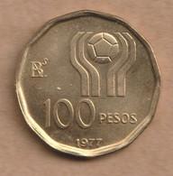 ARGENTINA 100 Pesos (Soccer) 1977  Aluminium-bronze • 6.5 G • ⌀ 25 Mm KM# 77, - Argentina