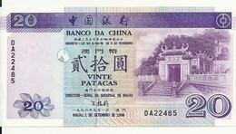 MACAO 20 PATACAS 1996 UNC P 91 - Macau