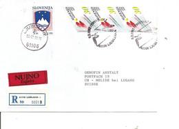 Slovénie ( Lettre Exprès Recommandée De 1992 De Ljublijana Vers La Suisse à Voir) - Eslovenia