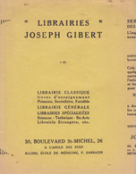 "L J G/Protège-Cahiers Librairie ""Joseph Gilbert"" (N=2) - Book Covers"