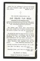 Doodsprentje Oorlogsslachtoffer Adjudant 7e Linieregiment Kalmthout + Eeklo 1918 - Devotion Images