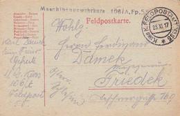 Feldpostkarte - Maschinengewehrkurs 106/A.Fp. 55 - Nach Friedek - 1917 (55465) - Covers & Documents