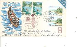 Japon ( FDC De 1968 Voyagé Vers La Tchécoslovaquie à Voir) - FDC