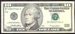 USA 10 Dollars 1999 F  - VF # P- 506 < F6 - Atlanta GA > - Billets De La Federal Reserve (1928-...)