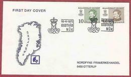Gr001, FDC. GROENLAND LA POSTE 16/04-1973 - FDC