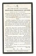 Doodsprentje Oorlogsslachtoffer Soldaat 7e Linieregiment Herentals Olen + Lettenburg Diksmuide 1917 - Andachtsbilder