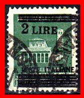 ITALIA  AÑO 1945 SELLO SOBREIMPRIMIDO EN SELLO DE 25c DE LA REPUBLICA SOCIAL ( 2 LIRAS Y BARRAS ) REPUBLICA FASCISTA - Gebraucht