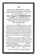 Doodsprentje Oorlogsslachtoffer Soldaat 4e Jagers Te Voet Beerse + De Panne 1917 - Andachtsbilder