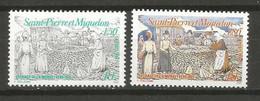 Timbre  St Pierre Et Miquelon Neuf **  N 595 / 596 - Ongebruikt