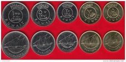Kuwait Set Of 5 Coins: 5-100 Fils 1962-2012 UNC - Kuwait
