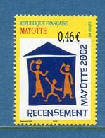 ⭐ Mayotte - YT N° 132 ** - Neuf Sans Charnière - 2002 ⭐ - Ungebraucht