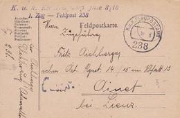Feldpostkarte K.u.k. Elektrokompagnie 3/10 1. Zug - Nach Ainet Bei Linz - 1918 (55476) - Covers & Documents