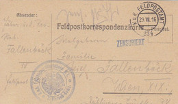 Feldpostkarte K.u.k. Festungsartilleriebaon N. 1 - Nach Wien - 1916 (55477) - Covers & Documents