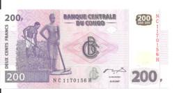CONGO 200 FRANCS 2007 UNC P 99 - Unclassified