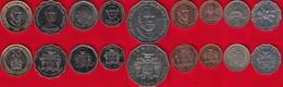 Jamaica Set Of 9 Coins: 1 Cent - 20 Dollars 1987-2006 UNC - Jamaica