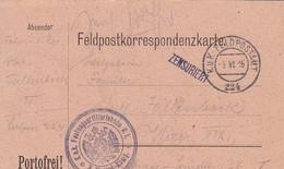 Feldpostkarte K.u.k. Festungsartilleriebaon N. 1  - Nach Wien - 1916 (55480) - Covers & Documents