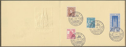"Bizone: Sonderkarte / Gedenkblatt -  Mi.-Nr.  69-72 ESST 15.8.48, "" 700 Jahre Kölner Dom "" !     X - Zona Anglo-Americana"