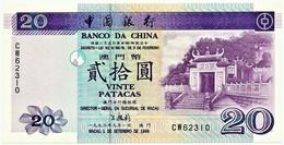 MACAU - 20 Patacas - 01.09.1996 - Pick 91 - Unc. - Banco Da China - Serie CW - Macao Portugal - Macau