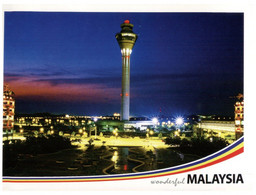 (MM 25) Malaysia ( (with 2 Stamp) - KLIA Aiport At Night - Malaysia