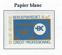 COB  1938P2  Papier Blanc  MNH - Nuevos