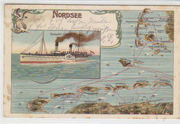 Nordsee - Dampfer COBRA - 1905 Schiffspost Hamburg-Helgoland - Helgoland