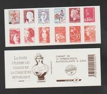 FRANCE / 2008 / Y&T N° 4287/4298 ** Ou AA 225/236 **  Ou BC225 ** : Visages Vème République (carnet C1518 Non Plié) X 1 - Luchtpost