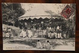 CPA Ak 1914 Sultanat Anjouan France Madagascar Manège De Chevaux De Bois Cover Suisse - Covers & Documents