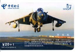 Armée Army Avion Jet  Télécarte Telefonkarte Phonecard Chine (D.586) - Esercito