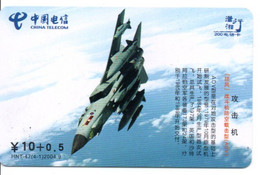 Armée Army Avion Jet  Télécarte Telefonkarte Phonecard Chine (D.587) - Army
