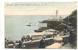 Douglas Head Lighthouse - 1904 Used Isle Of Man Postcard - Isola Di Man (dell'uomo)