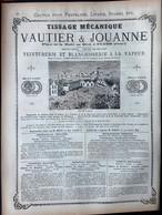 61 FLERS TISSAGE VAUTIER ET JOUANNE  COUTILS VELOURS TOILES A MATELAS TEINTURERIE BLANCHISSAGE   28 X 38 CM - Flers