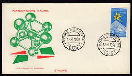 Italy 1958 / Universal Exposition EXPO Brussel Bruxelles / FDC - 1958 – Bruselas (Bélgica)