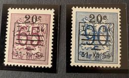1954 - Cijfer Op Heraldieke Leeuw Met Waardewijziging En Voorafstempeling - Postfris/Mint - Unused Stamps