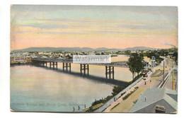 Brisbane - Victoria Bridge & North Quay - Postcard From 1908, Postmarked In London - Brisbane