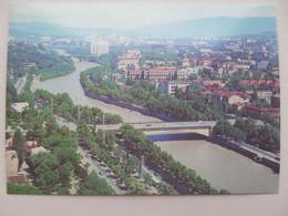 Georgia Tbilisi City Aerial View Old USSR PC 1986 - Georgia