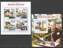 ST538 2015 SIERRA LEONE FAMOUS PEOPLE WINSTON CHURCHILL 1KB+1BL MNH - Sir Winston Churchill
