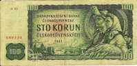 """100 Korun   """"Tchécoslovaquie""""     1961      Ro 70 - Czechoslovakia"""