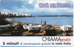 ITALY - CHIAMAGRATIS - 486 - CAFFE' DEL PORTO - LANDSCAPE - BOATS - AUGUSTA - MINT (MASTER) - GSM-Kaarten, Aanvulling & Voorafbetaald