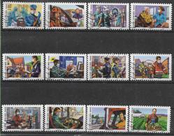 2020 FRANCE Adhésif 1909-20 Oblitérés, Covid, Tous Engagé, Série Complète - Autoadesivi