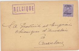 Belgie Nr OC 43 Op Gelopen Postwaardestuk Uit 1924 Aix-La-Chapelle (Aachen, Aken) - German Occupation