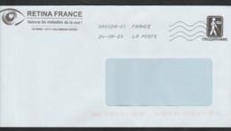 Entier TSC Pour RETINA France .Aveugles . Oblitérée 2000 . - Prêts-à-poster:Stamped On Demand & Semi-official Overprinting (1995-...)