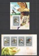 ST653 2014 GUINEE GUINEA FAUNA BIRDS OF PREY LES OISEAUX DE PROIE KB+BL MNH - Aquile & Rapaci Diurni