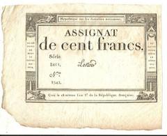 Assignat 100 Francs - Série 3811 - N° 1542 - Signature Lenoir - Assignats