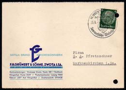 E9588 - Zwota - Grünert & Söhne Sibylla Brand Akkordeon - Bedarfspost Nach Markneukirchen - Storia Postale
